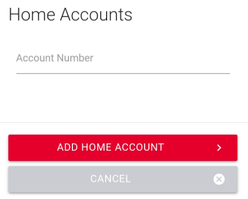 Enter the home account number image